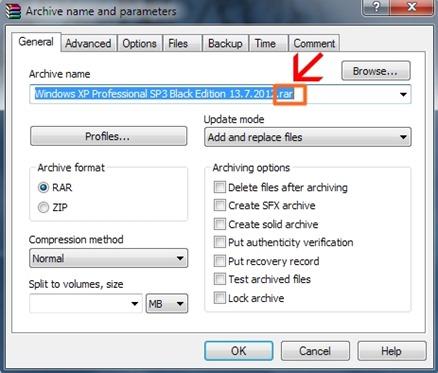 Cara membuat file iso dengan Winrar 02