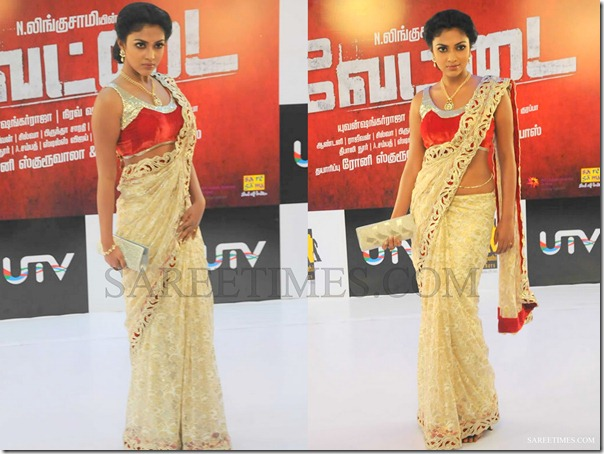 Amala_Paul_Cream_Saree