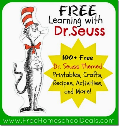 Dr Seuss activities free home school deals 100