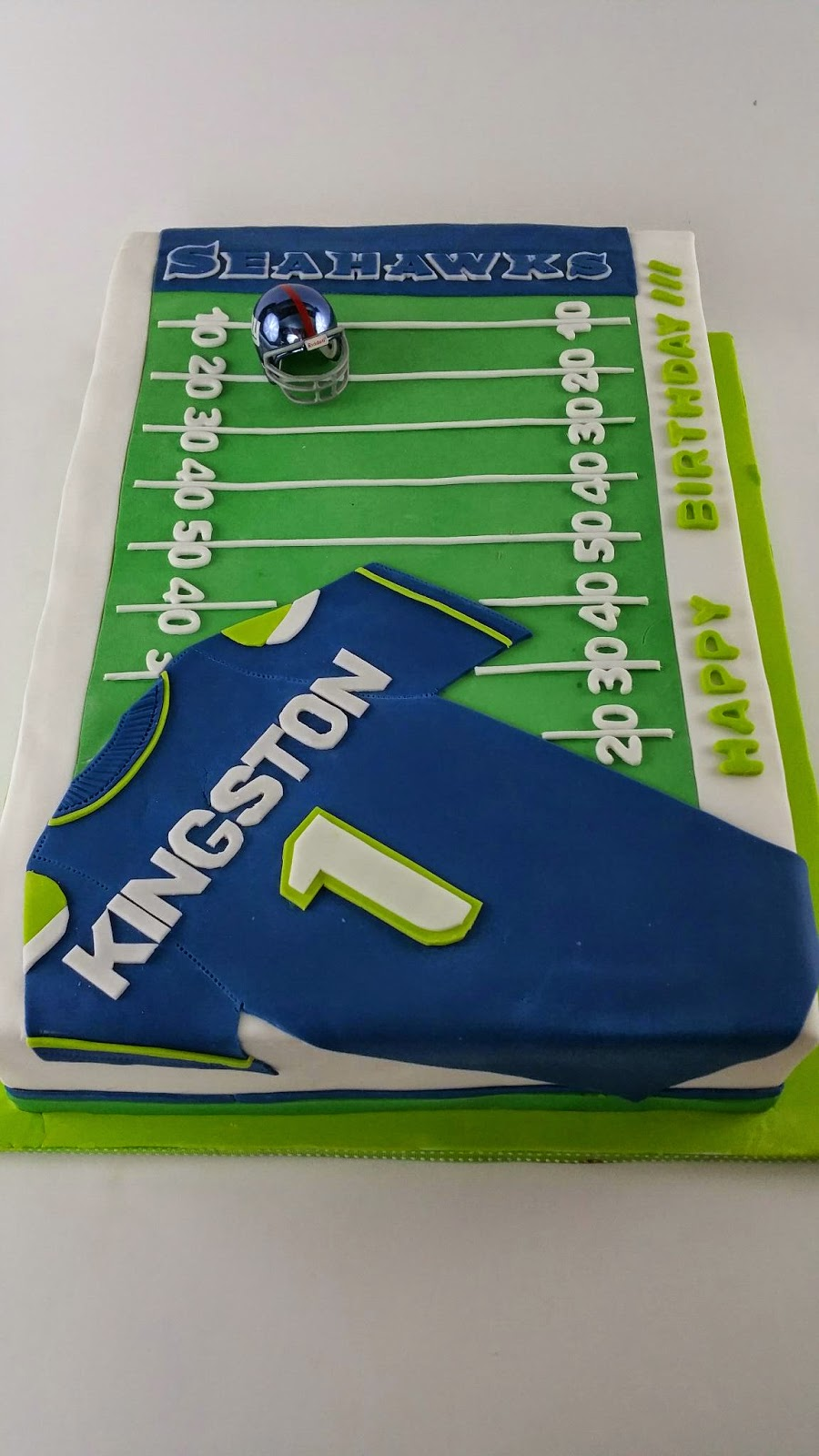 Cakes By Hotkist Seattle Seahawks Football Field Birthday Cake