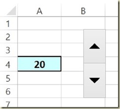 Form Controls in Excel - Spin Button