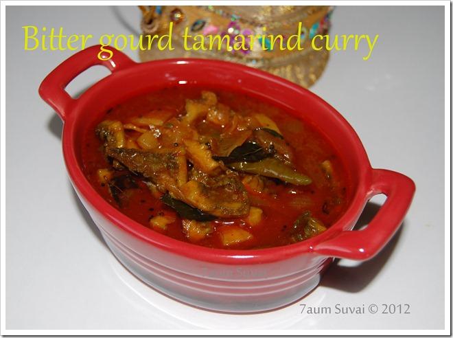 Bitter gourd tamarind curry / பாவக்காய் புளி குழம்பு
