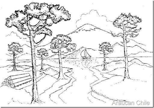 Dibujos de paisajes venezolanos para colorear  Imagui