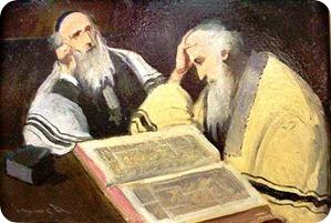 Rabino lendo e meditando