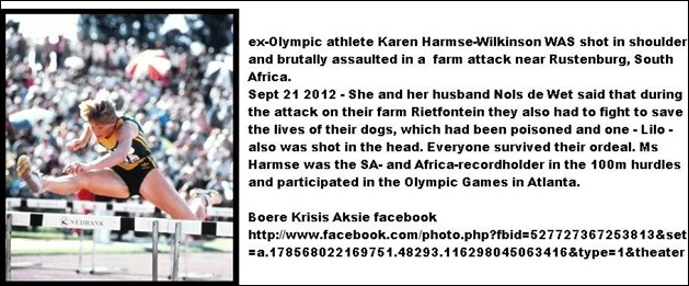 HARMSE DE WET FARM ATTACK RUSTENBURG SEPT 21 2012 OLYMPICS CHAMPION