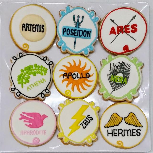 greek god and goddess symbol cookies
