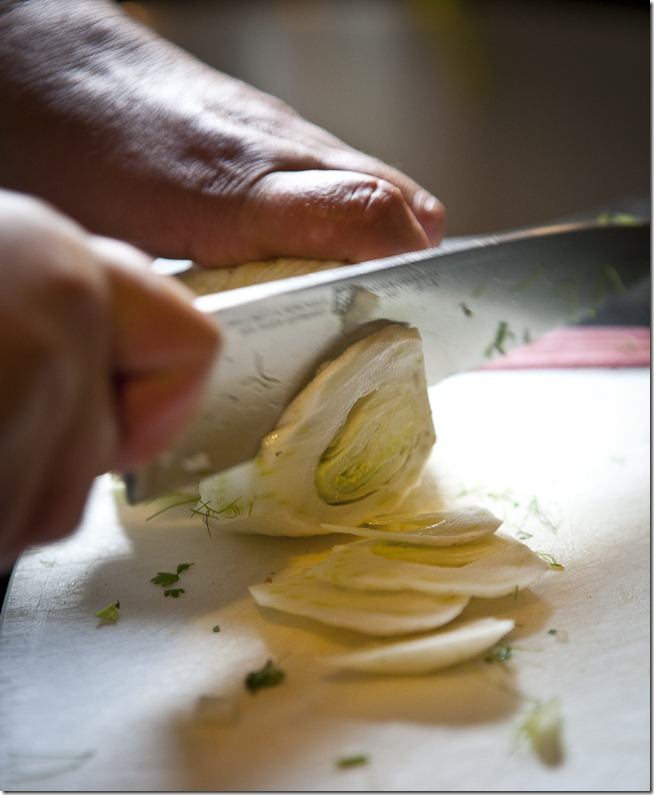 Sliced Fennel
