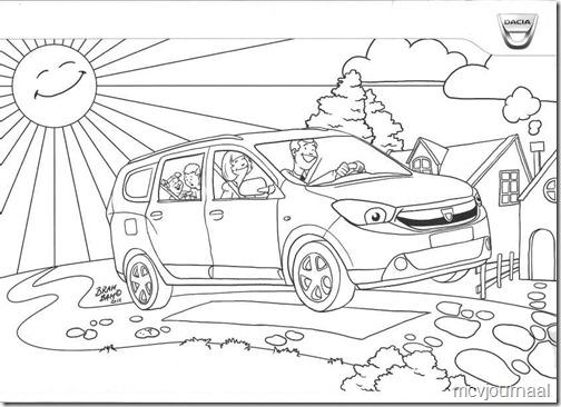Kleurplaat Dacia Lodgy