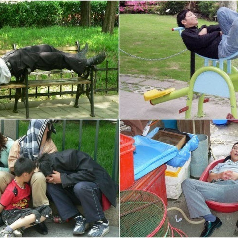 Sleeping Chinese People