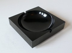 Minimal-modern black melamine square ashtray for Eldon Office Products