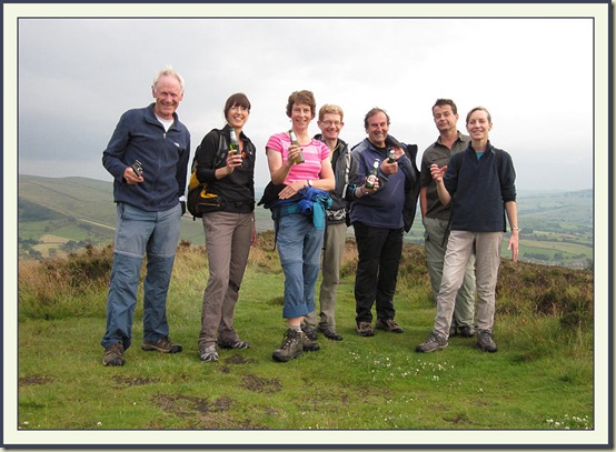 On Lantern Pike - Martin, Diana, Sue, Richard, Notchy, Richard, Nightbird