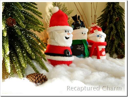 Sock Snowman Sock Santa 031a