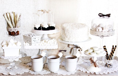 Semplicemente Perfetto Vintage Winter White table Dessert 01