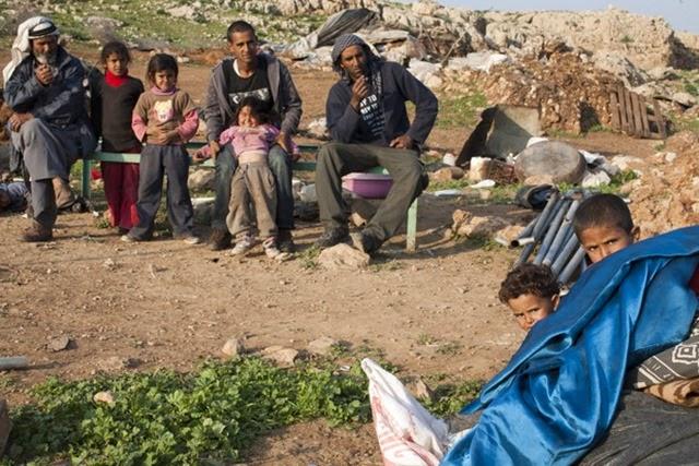 House demolition, Al-Mayta, Jordan Valley, 20.01.2013