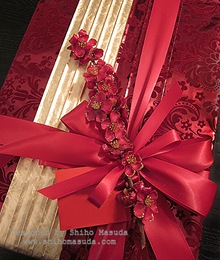 Japanese plum christmas wrapping