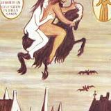 Peinture de Dino Buzzati. Ex Voto tiré de sa légende (imaginaire) de Sainte Rita.JPG