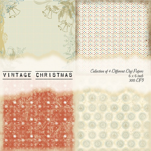 Vintage Christmas Front Sheet