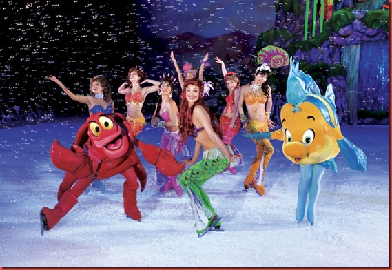 02 ARIEL AND HER FIN-CLAD SISTERS FROLIC UNDER THE SEA WITH SIDEKICKS SEBASTIAN AND FLOUNDER