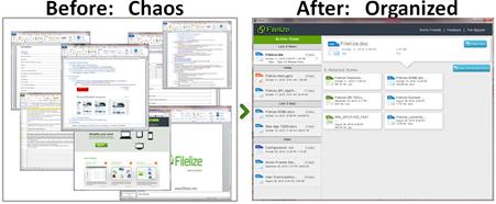 برنامج المزامنة الذكى Filelize يقوم بتنظيم ملفاتك تلقائيا و عرض الملفات المماثلة للملف الذى تعرضه على البرنامج