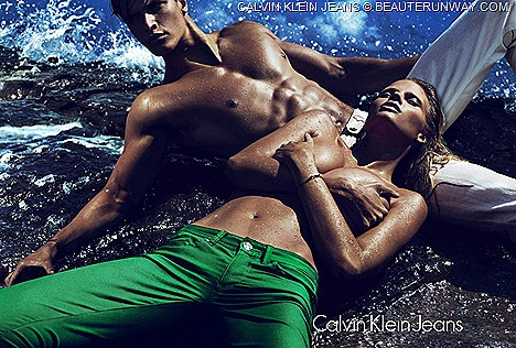 Calvin Klein Jeans Men Women  Spring Summer 2012  capsule collection  skinny, shrunken, slouchy denim Indigo, Pastel Colored
