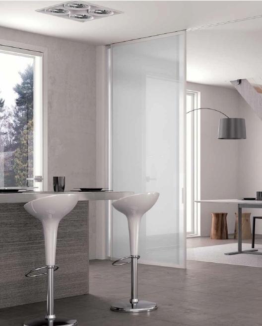 Porte scorrevoli tra cucina e soggiorno per separare e unire due ambienti la trave superiore - Porte per cucina ...