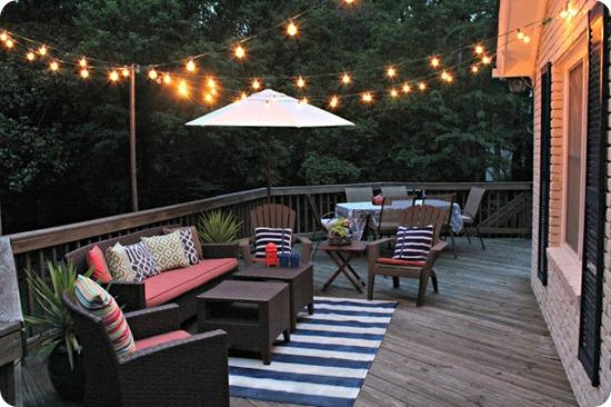 striped rug deck