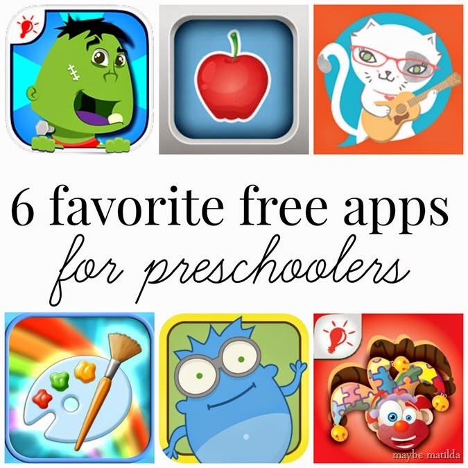 Our 6 favorite free apps for preschoolers.