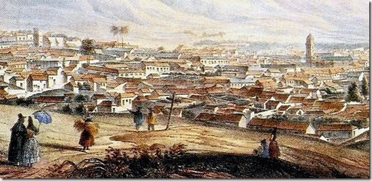 Vista de Caracas en1839