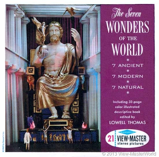 View-Master The Seven Wonders of the World (B901), Packet Cover
