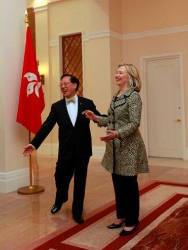 Hillary Clinton Donald Tsang Dancing