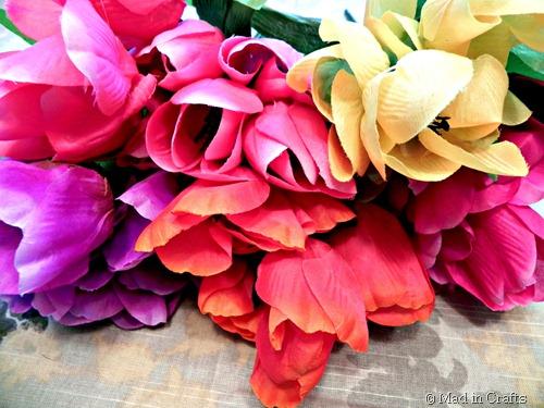dollar store tulips
