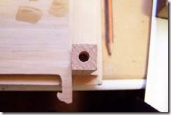 detalle del taldro para el tubillon en la pata