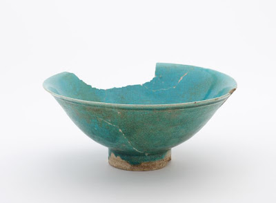 "Bowl | Origin: unknown | Period: Glazed clay  ""Glazed clay""  Glazed clay  Stone-paste decorated with glaze 