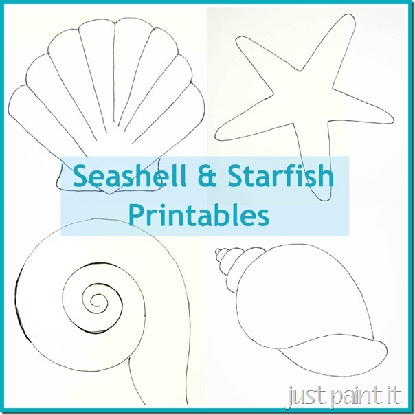 Peaceful image inside seashell stencil printable