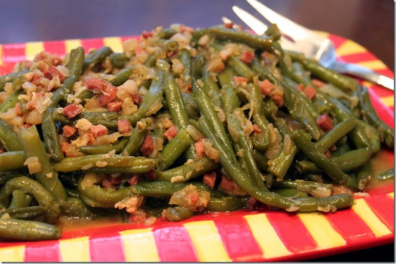 Green Beans on Platter