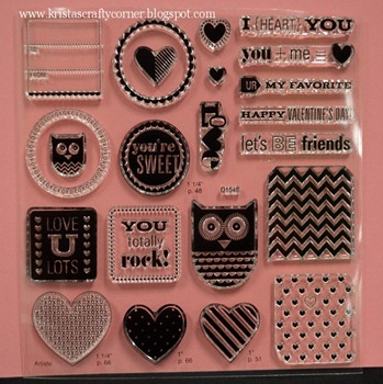 Whoos your valentine_contents of kit_stamp set