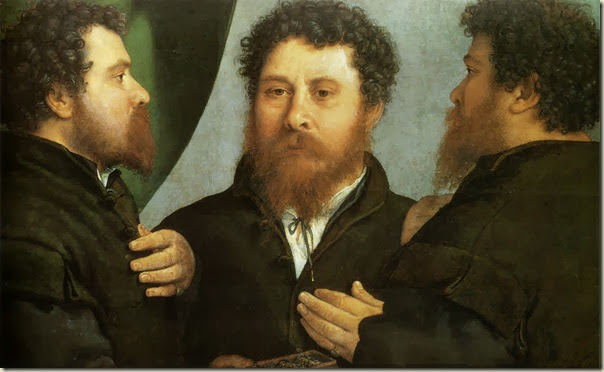 Lorenzo Lotto, Triple portrait d'orfèvre