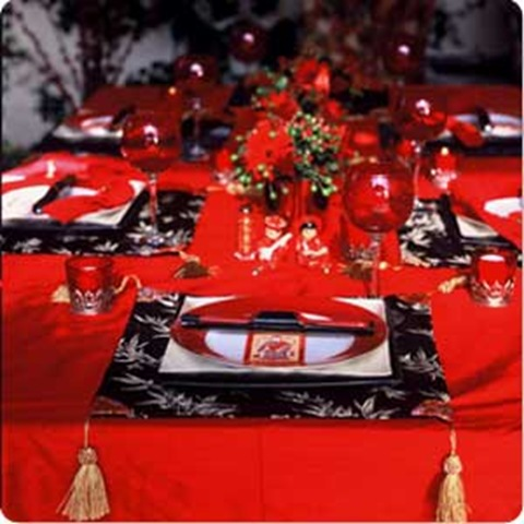 pillow covers as chinese new year placemats via wuerstelstand-blogspot-com