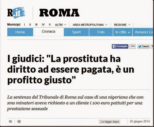 Repubblica prostituta pagamento