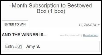 Bestowed Winner