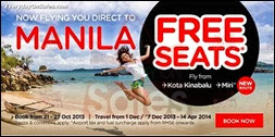 Air Asia Manila FREE Seats 2013 Malaysia Philippines Deals Offer Shopping EverydayOnSales