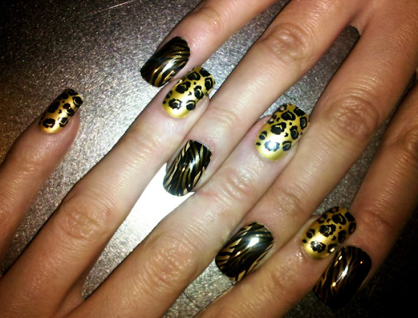 Cheetah acrylic nail designs nail designs hair styles tattoos cheetah nail designs acrylic nails 546 cheetah acrylic nail designs solutioingenieria Choice Image