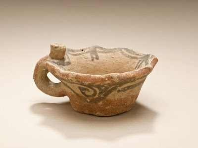 Small Cup Greater Iran (Afghanistan) Small Cup, 6th-7th century Ceramic; Vessel, Ceramic, Height: 2 in. (5 cm); Diameter: 4 3/16 in. (10.5 cm) Gift of Kate Fitz Gibbon and Andrew Hale (AC1997.253.16) Art of the Middle East: Islamic Department.