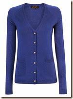 Jaeger blue silk and wool long cardigan