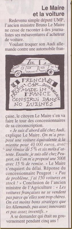 crompar una automobila francesa a l'UMP