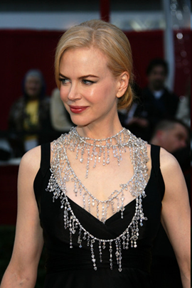 Nicole Kidman diamond necklace at the 2008 Academy Awards