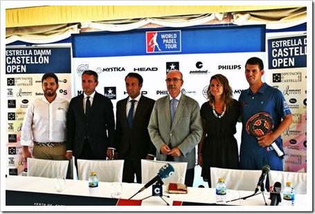 Presentado oficialmente el Estrella Damm Castellón Open 2014.