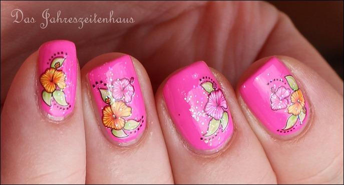Pinker Hibiskus