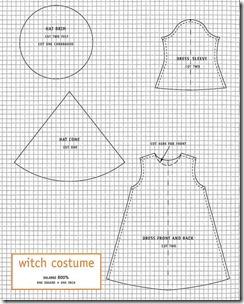 patrones disfraz de bruja