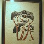 Pins maritimes imprimé sur papier algues marouflé Tout encadré (léger) 150€